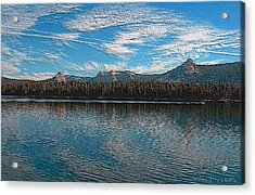 Acrylic Print featuring the digital art Courtright Reservoir Version II by Visual Artist Frank Bonilla