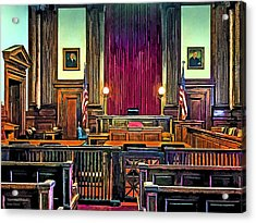 Courtroom Acrylic Print by Susan Savad