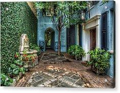 Courtyard At Rainbow Row Acrylic Print