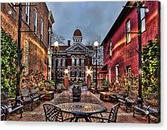 Courtyard Courthouse Acrylic Print