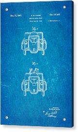 Couse Fire Truck Patent Art 3 1947 Blueprint Acrylic Print