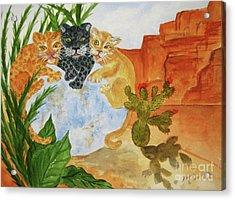 Cousins - Big Cats Acrylic Print