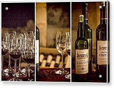 Coutet Wine Tour Triptych Acrylic Print by Georgia Fowler
