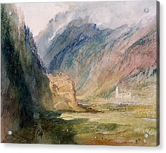 Couvent Du Bonhomme Chamonix Acrylic Print by Joseph Mallord William Turner