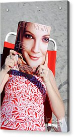 Cover Girl Acrylic Print