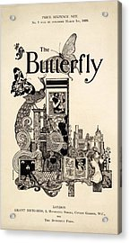 Cover Of The Butterfly Magazine Acrylic Print by English School