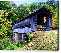 Covered Bridge 1 Acrylic Print by Gena Weiser