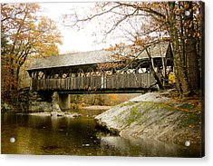 Covered Bridge  Acrylic Print by Allan Millora
