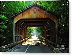Covered Bridge At Sleeping Bear Dunes National Lakeshore Acrylic Print by Terri Gostola