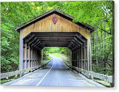 Covered Bridge At Sleeping Bear Dunes Acrylic Print by Twenty Two North Photography