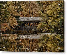 Acrylic Print featuring the photograph Covered Bridge At Sturbridge Village by Jeff Folger