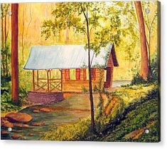Covered Bridge Boone Nc Acrylic Print by Julia Rietz