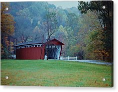 Acrylic Print featuring the photograph Covered Bridge by Diane Alexander