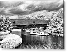 Covered Bridge In Frankenmuth Acrylic Print