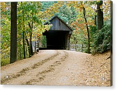 Covered Bridge In October Acrylic Print