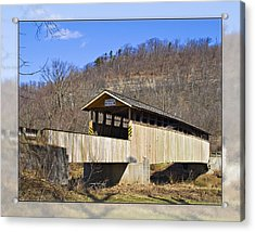 Covered Bridge In Pa. Acrylic Print