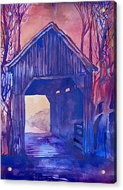 Covered Bridge Acrylic Print by James Huntley