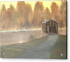 Covered Bridge Acrylic Print by James Waligora