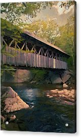 Acrylic Print featuring the painting Covered Bridge by Jeff Kolker