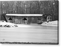 Covered Bridge Acrylic Print by Jennifer  King