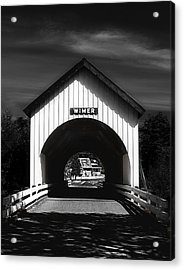 Covered Bridge Acrylic Print by Melanie Lankford Photography