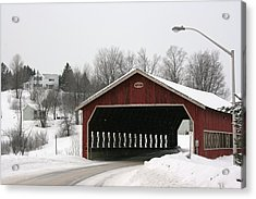 Acrylic Print featuring the photograph Covered Bridge Muskoka by Paula Brown