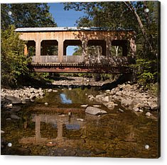 Covered Bridge Near Jamaica Vermont Acrylic Print