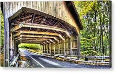 Covered Bridge On Pierce Stocking Scenic Drive Acrylic Print