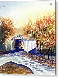 Covered Bridge On The Lochatong Acrylic Print