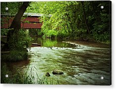 Covered Bridge Over French Creek Acrylic Print