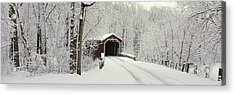 Covered Bridge Pa Acrylic Print by Panoramic Images