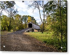 Covered Bridge Acrylic Print by Phil Abrams