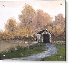Covered Bridge Acrylic Print by Randall Brewer