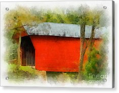 Covered Bridge - Sinking Creek Acrylic Print