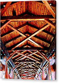 Covered Bridge Structure Acrylic Print by Randall Weidner
