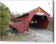 Covered Bridge Taftsville Acrylic Print by Christiane Schulze Art And Photography