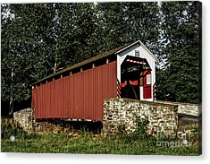 Covered Bridge Acrylic Print by Timothy Clinch