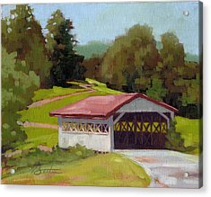 Covered Bridge Acrylic Print by Todd Baxter