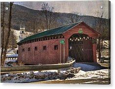 Covered Bridge - West Arlington Vt Acrylic Print by Joann Vitali