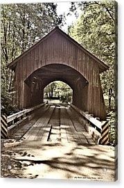 Covered Bridge Yachats Oregon Acrylic Print