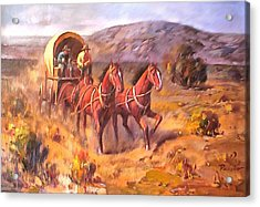Covered Wagon Acrylic Print by Parsons