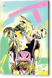 Cow- Happy Cow Acrylic Print