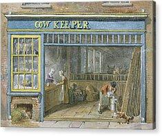 Cow Keeper Acrylic Print by George the Elder Scharf