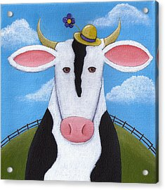 Cow Nursery Wall Art Acrylic Print by Christy Beckwith