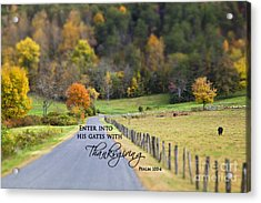 Cow Pasture With Scripture Acrylic Print