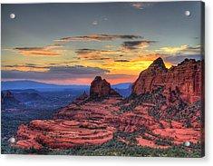 Cow Pies Sunset Acrylic Print