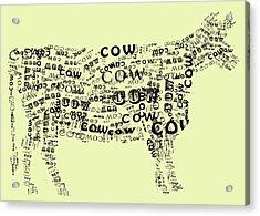 Cow Print Acrylic Print by Heather Applegate