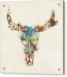 Cow Skull Acrylic Print by Bri B