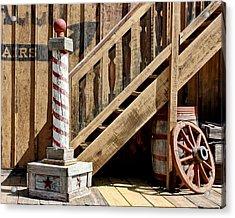 Cowboy Barbershop Acrylic Print