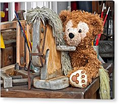 Acrylic Print featuring the photograph Cowboy Bear by Thomas Woolworth